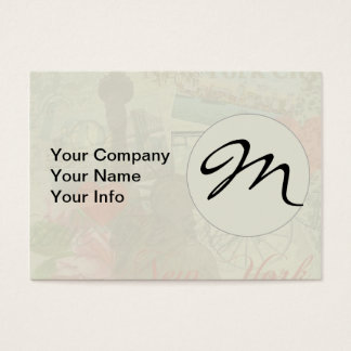 Vintage New York City Pattern Monogram Business Card