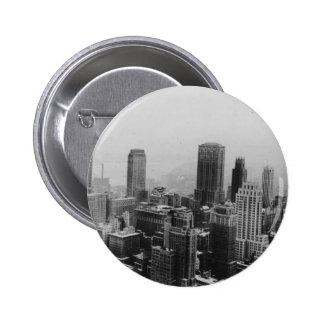 Vintage New York City Pin Redondo De 2 Pulgadas