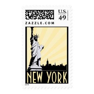 Vintage New York City Postage Stamps