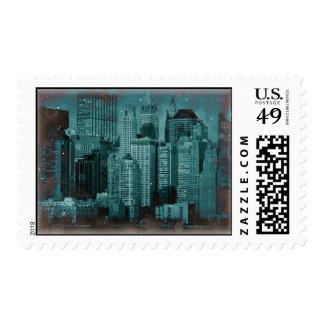 Vintage New York City Postage Stamp