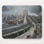 Vintage New York City que pinta el puente de Alfombrilla De Raton