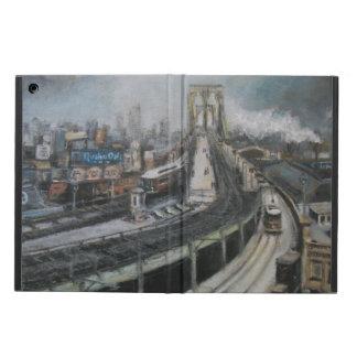Vintage New York City que pinta el puente de Brook