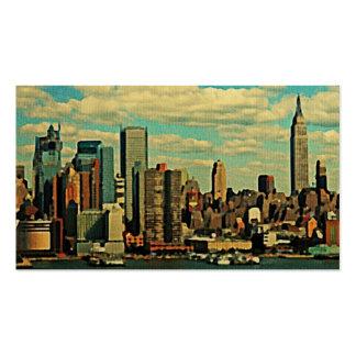 Vintage New York City Skyline Business Cards