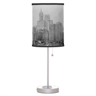 Vintage New York City Skyline Desk Lamp