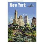 Vintage New York City Skyscrapers Air Travel Card