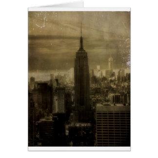 Vintage New York City Tarjeta De Felicitación