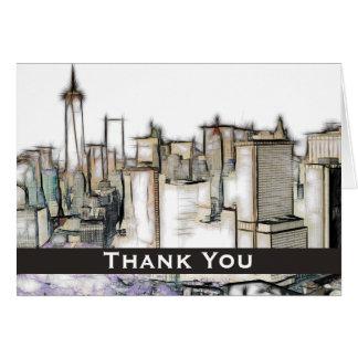 Vintage New York City Thank You Card