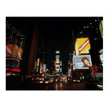 Vintage New York City Times square Theatre Signs Post Card