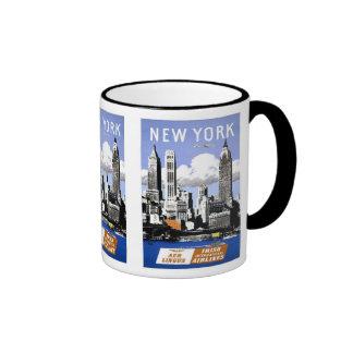 Vintage New York City Travel Ringer Mug