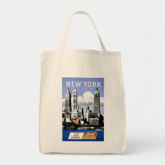 Vintage New York City Travel Tote Bag
