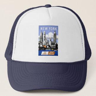 Vintage New York City Travel Trucker Hat
