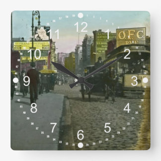 Vintage New York City Trolley Square Wall Clock
