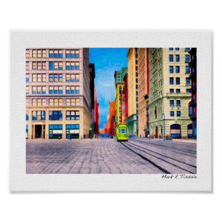 Vintage New York City - Union Square - Small Poster