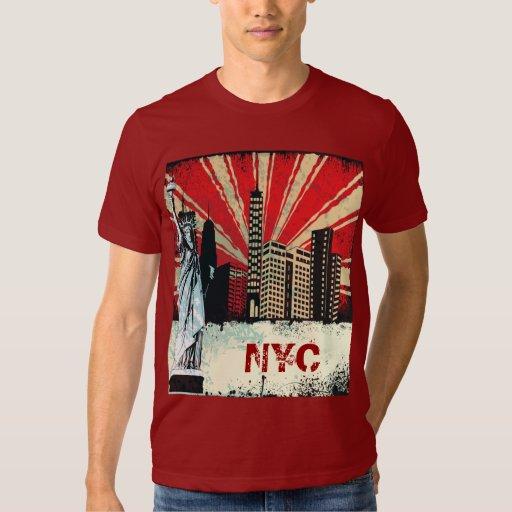 vintage New York City urban grunge graffiti tshirt