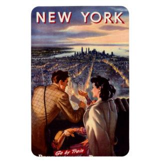 Vintage New York City, USA - Rectangular Photo Magnet