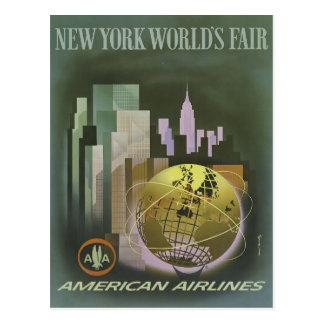 Vintage New York City World's Fair Postcard