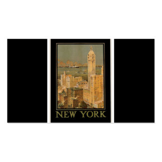 Vintage New York from Glasgow Double-Sided Standard Business Cards (Pack Of 100)