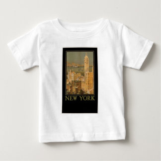 Vintage New York from Glasgow by the Anchor Line Baby T-Shirt