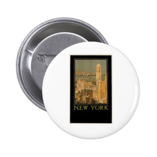 Vintage New York from Glasgow by the Anchor Line Pinback Buttons