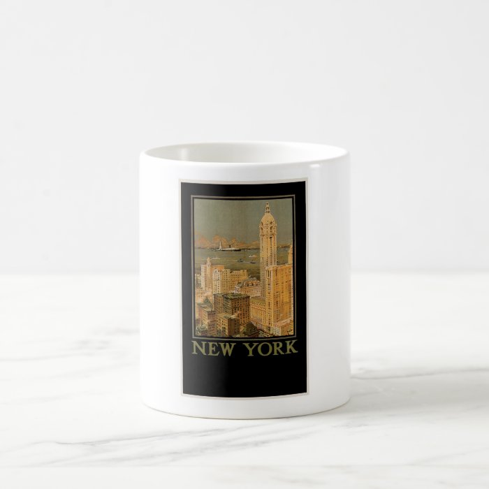 Vintage New York from Glasgow by the Anchor Line Coffee Mug