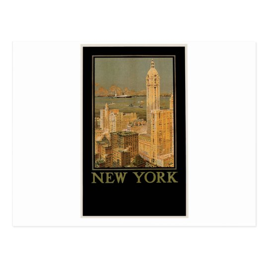 Vintage New York from Glasgow by the Anchor Line Postcard