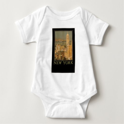 Vintage New York from Glasgow by the Anchor Line Tshirt