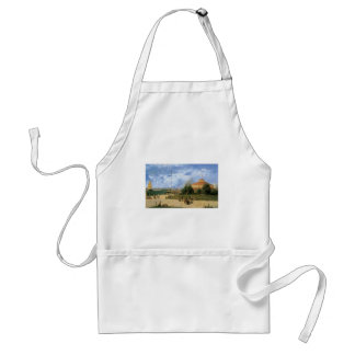 Vintage New York Harbor and Battery, 1885 Adult Apron