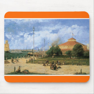 Vintage New York Harbor and Battery, 1885 Mouse Pad