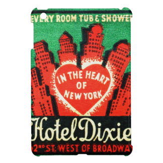 Vintage New York Hotel Dixie Matchbook Art Cover Cover For The iPad Mini