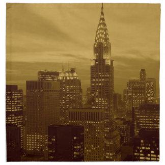Vintage New York Manhattan Napkin
