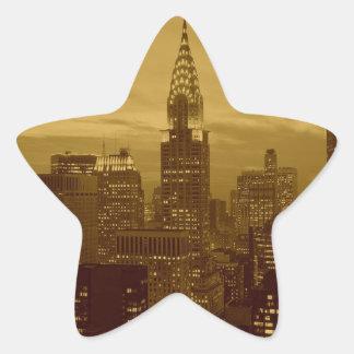 Vintage New York Manhattan Star Sticker