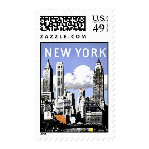 Vintage New York Postage Stamps