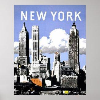 Vintage New York print