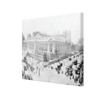 Vintage New York Public Library Photograph (1914) Canvas Print