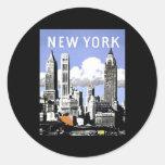 Vintage New York Round Stickers