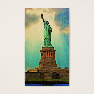 Vintage New York Statue Of Liberty Business Card