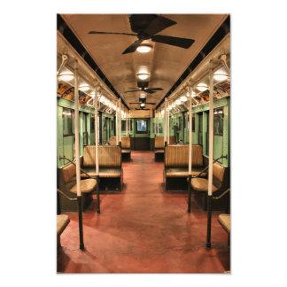 Vintage New York Subway Car Photo Print
