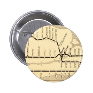 Vintage New York Subway Map Buttons