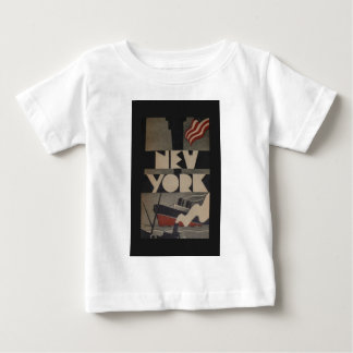 Vintage New York Travel Baby T-Shirt