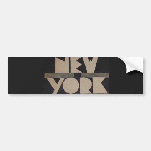 Vintage New York Travel Bumper Stickers