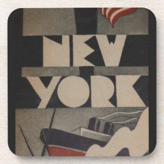 Vintage New York Travel Coasters