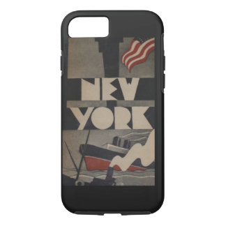 Vintage New York Travel iPhone 7 Case
