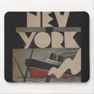 Vintage New York Travel Mouse Pad