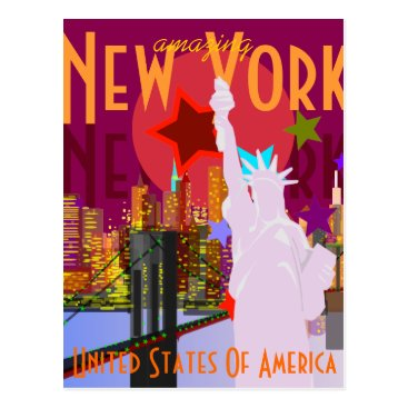 stopshop Vintage New York Travel Postcard