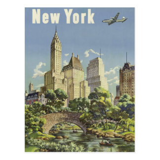 Vintage New York Travel Poster Postcard