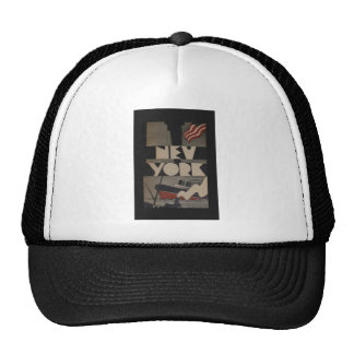 Vintage New York Travel Trucker Hat