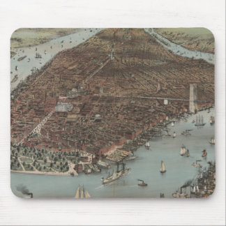 Vintage New York Waterfront Mousepad