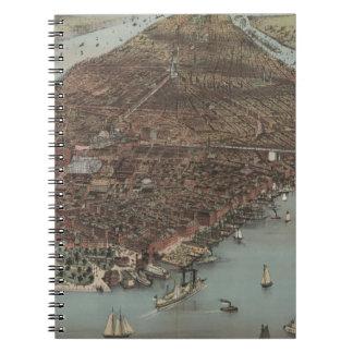 Vintage New York Waterfront Notebooks