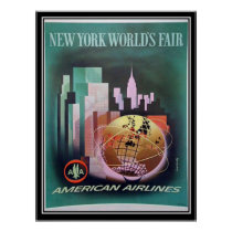 Vintage New York World Fair Print