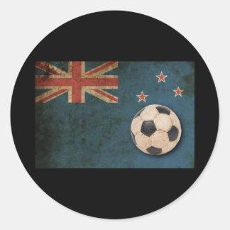Vintage New Zealand Classic Round Sticker